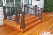 Trex Reveal railing with composite post sleeves