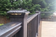 Trex Transcends composite railing with lighted post caps