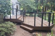 Composite deck with cable rail