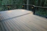 Havana Gold decking with Spiced Rum picture frame