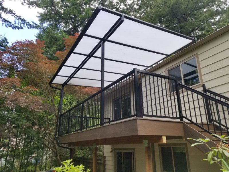 Trex deck with Acrylite patio cover