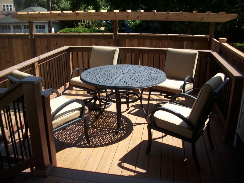 Composite Deck With Builderail Deck Masters Llc Portland Or