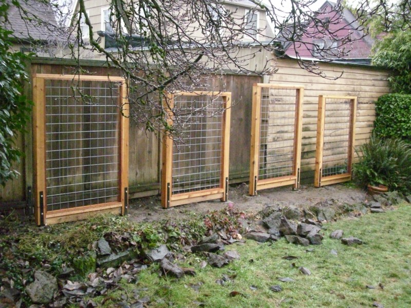Hog panel fences