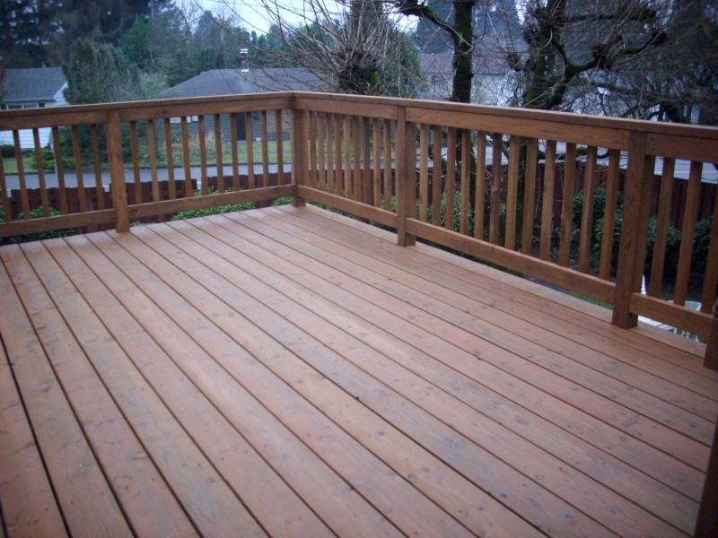 Pressure treated deck deck masters llc portland or for Cost of composite decking vs pressure treated