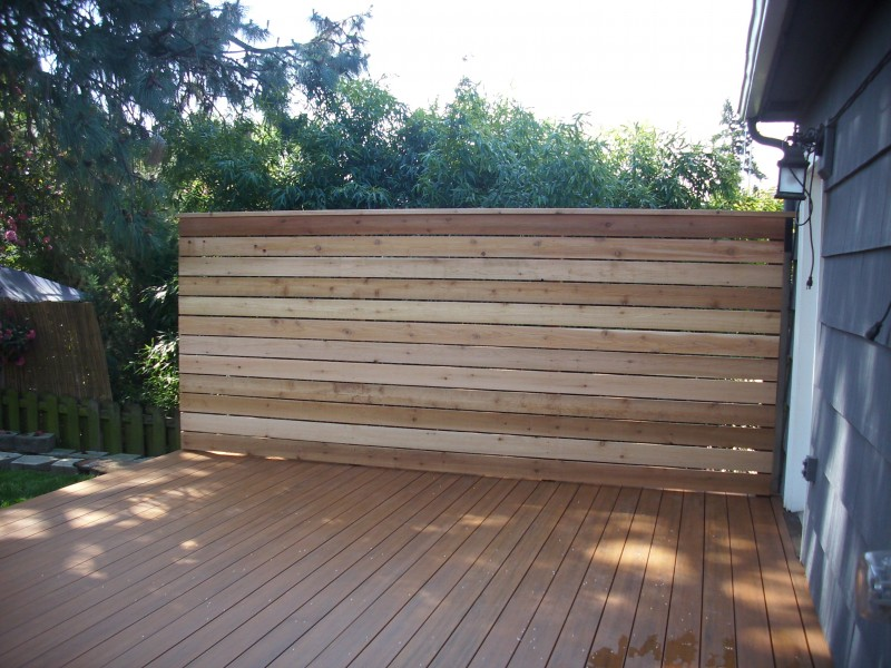 Timbertech Pacific Teak Composite Deck Cedar Privacy
