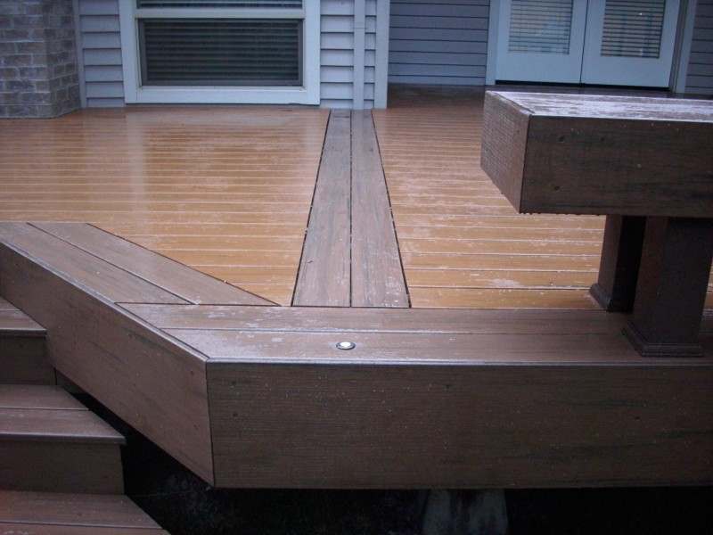 Timbertech deck with cable railing and lights deck masters llc timbertech in deck light aloadofball Gallery