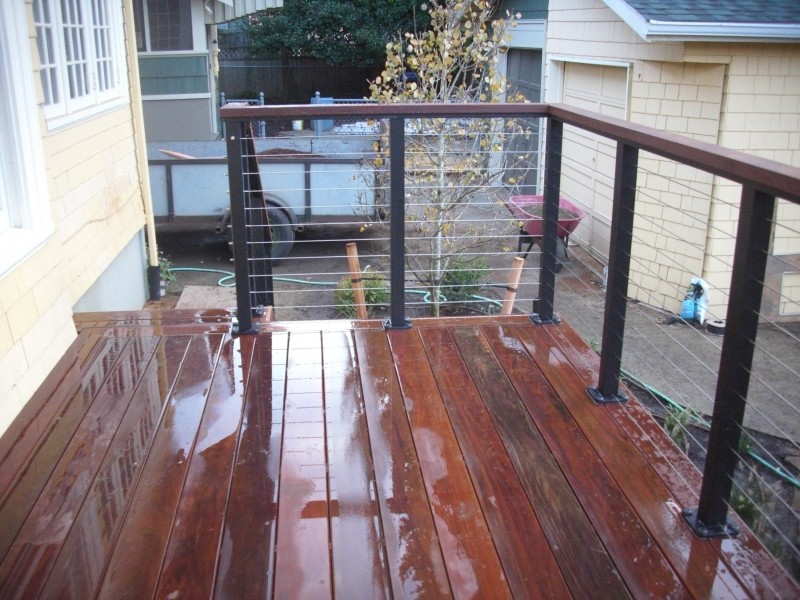 Beautiful ipe decking stained with Messmers natural stain