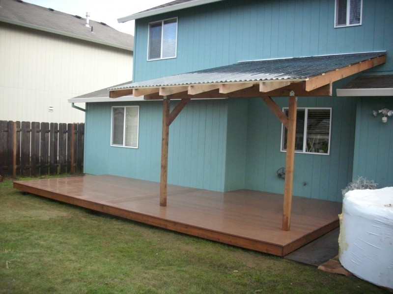 Composite Deck With Patio Cover