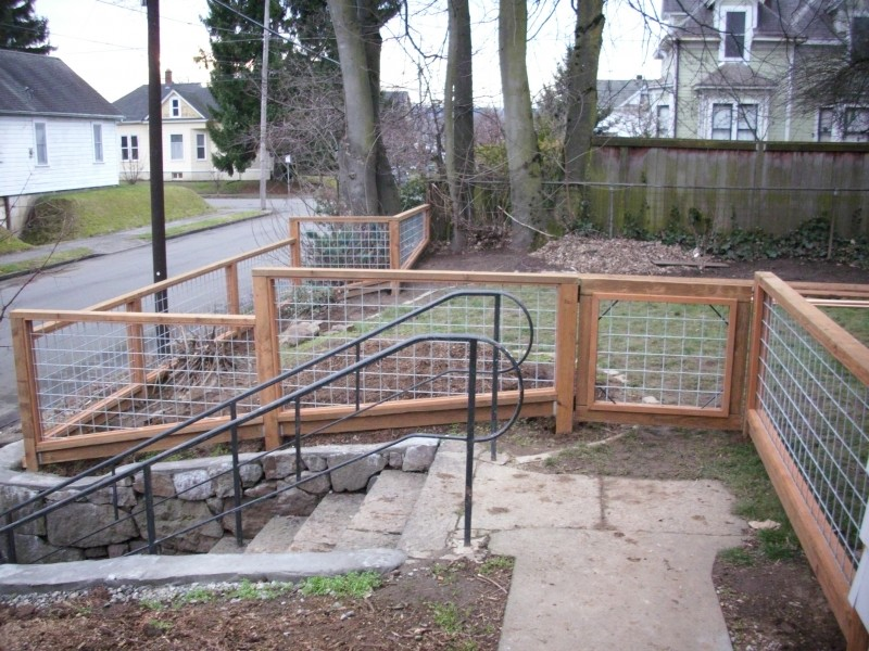 Galvanized wire fence with Pressure treated frame | Deck Masters ...