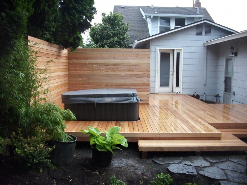 Beautiful Mahogany deck