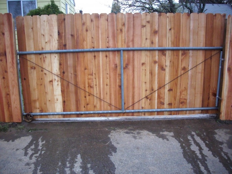 Sliding Dog Ear Gate And Fence Sliding Dog Ear Gate Deck