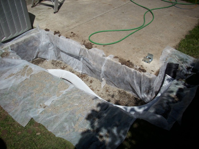 Patio Cover, French Drain, And Pavers