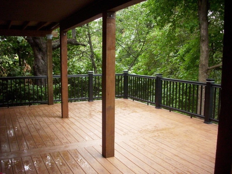 Elevated hillside PVC deck