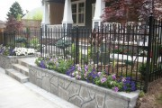Decorative metal fencing with flowers