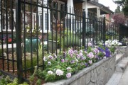 Metal fencing after landscaping