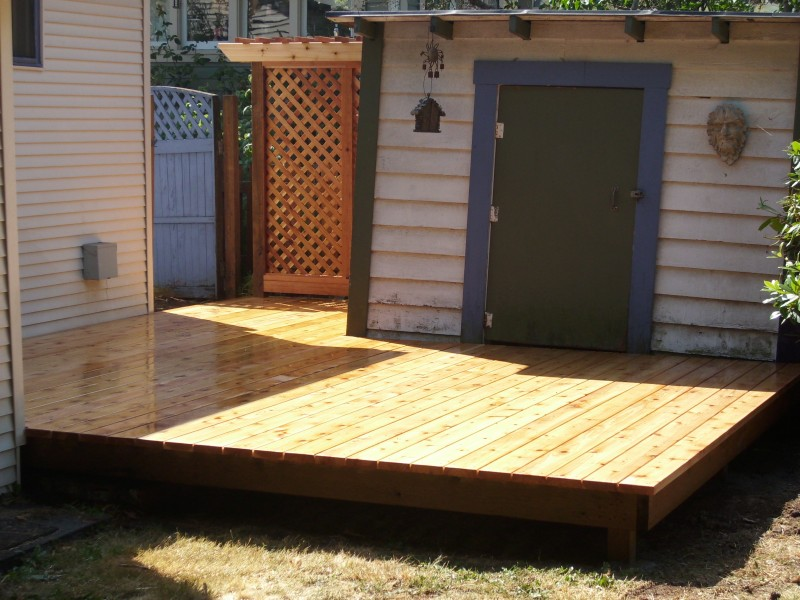 Deck and arbor