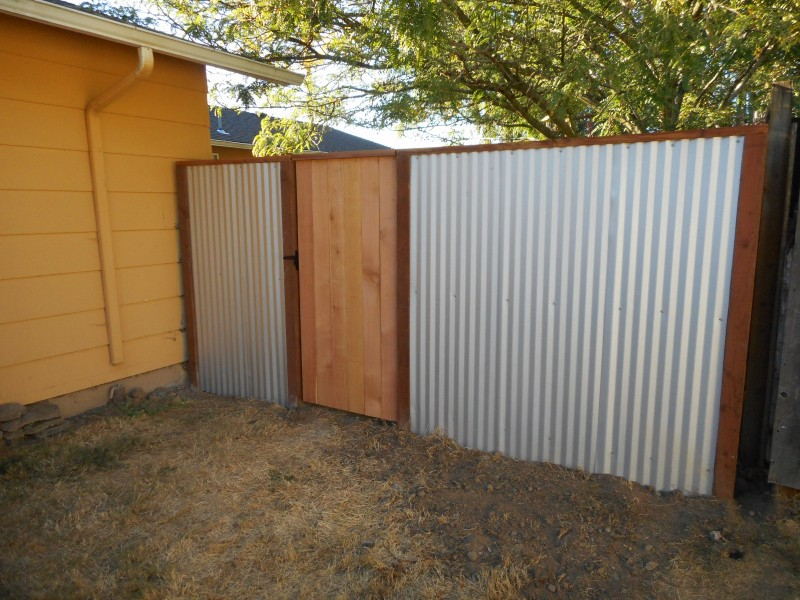 Corrugated Metal Fence Deck Masters Llc Portland Or