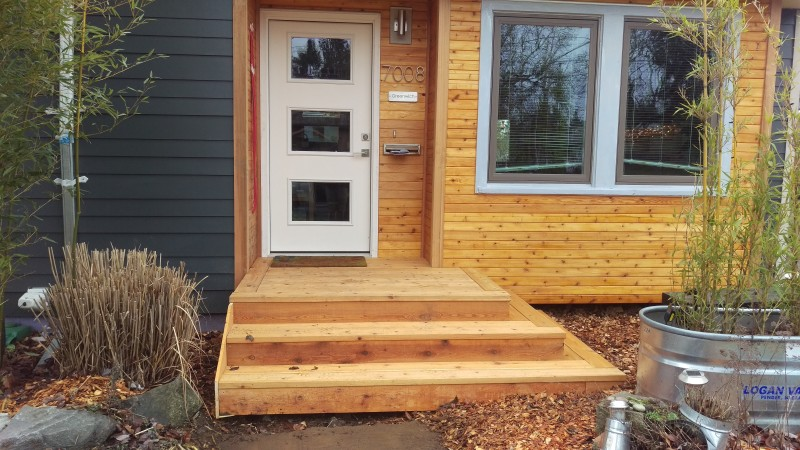 Wrap around front steps