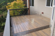 Timbertech tigerwood decking with mocha border
