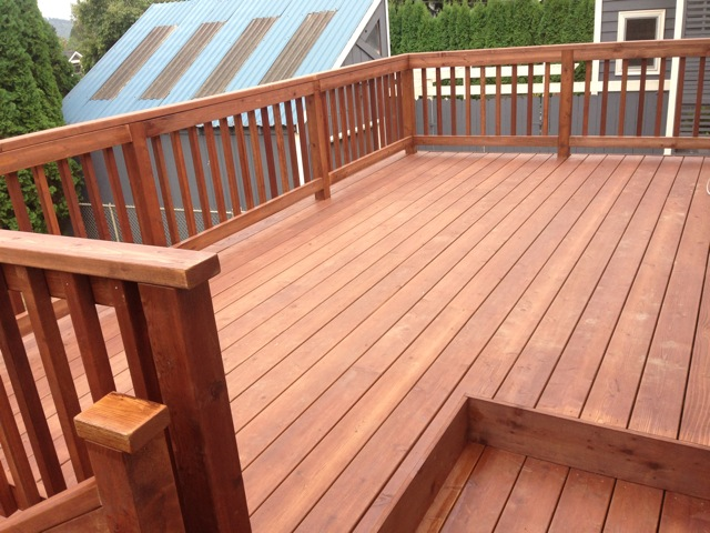 Brown Oak stained deck