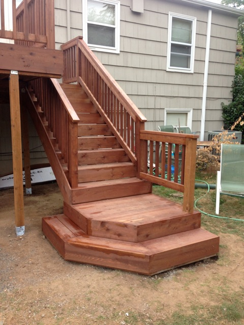 cedar deck and dryspace stair landing deck masters llc portland