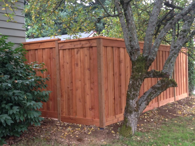 True privacy dual sided picture frame fence