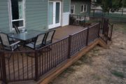Trex havana gold deck with bronze reveal rail