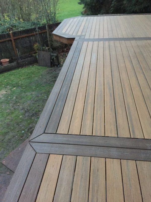 Trex Decking Colors >> Trex deck and railing Deck picture frame – Deck Masters, llc - Portland, OR