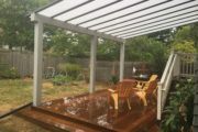Ipe deck with Acrylite cover