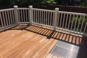 Grate installed in deck