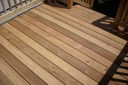 Beautiful cedar decking