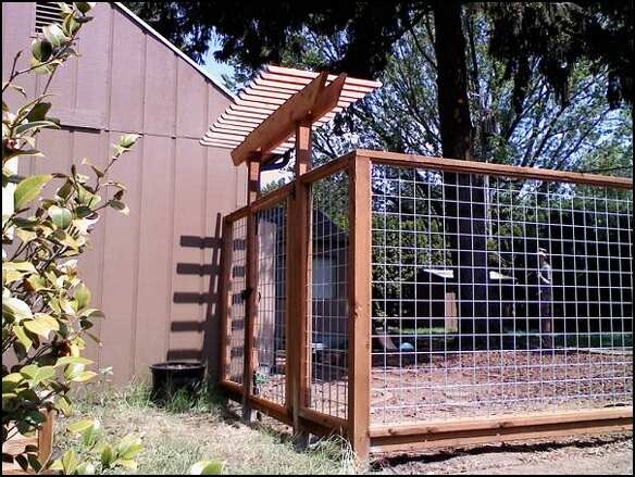 Wire fence with gate arbor deck masters llc portland or for Fence with arbor