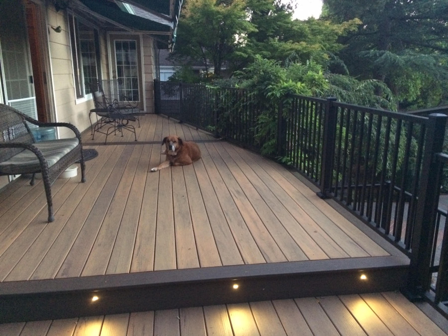 Composite deck with aluminum railing deck masters llc for Composite deck railing