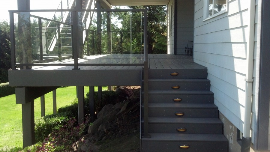 Timbertech stair riser lights
