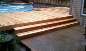 Custom removable stairs deck masters llc - Removable swimming pool handrails ...