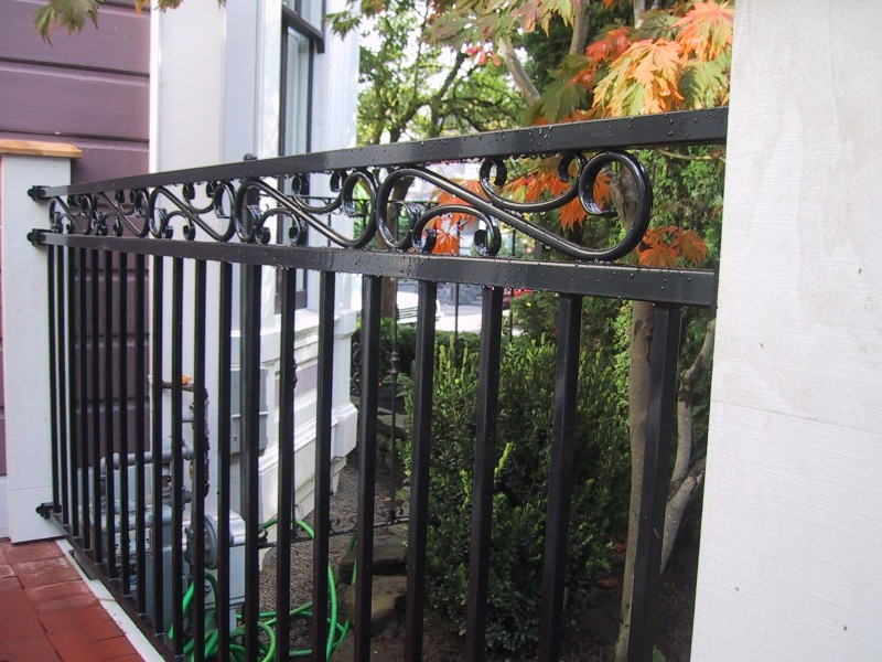Fortress Iron Railing With Scroll Top Deck Masters Llc