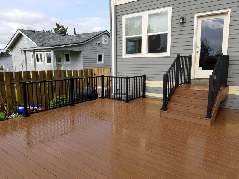 Timbertech Brown Oak Terrain deck