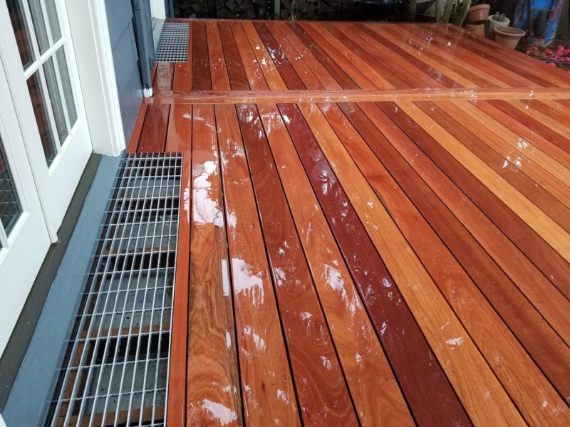 Hardwood Deck With Aluminum Grates Deck Masters Llc