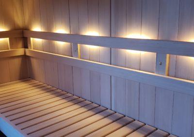Inside of Finnleo sauna
