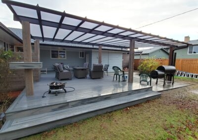 Acrylite cover and Trex deck