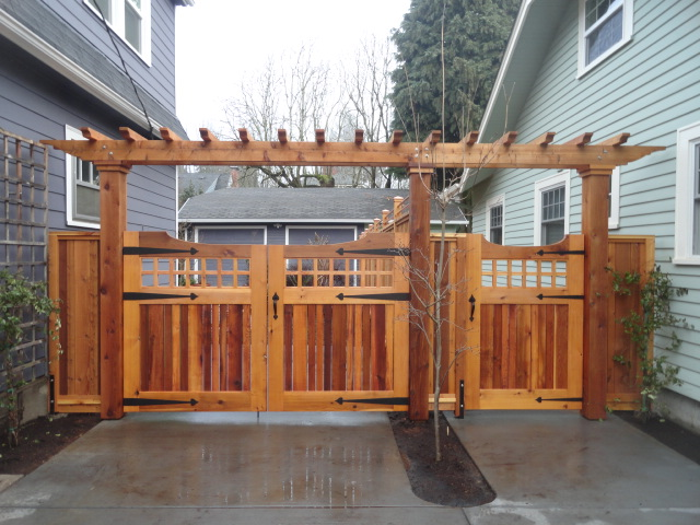 Custom cedar gates and fence