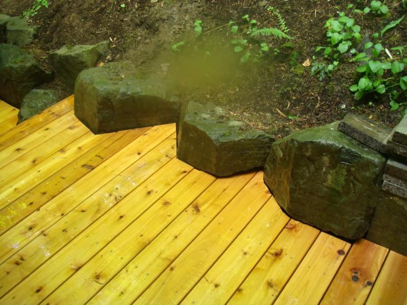 Zen garden deck