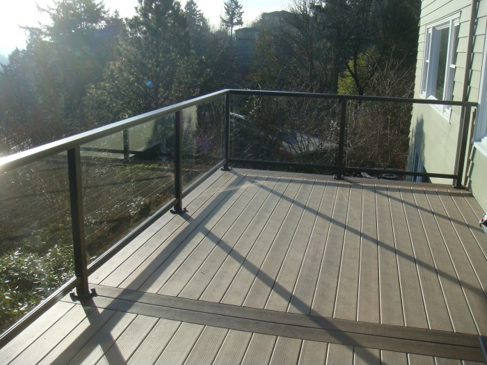 Glass Railing Deck Deck Masters Llc