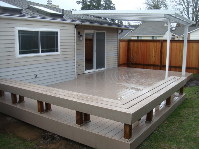 Timbertech Sandy birch deck