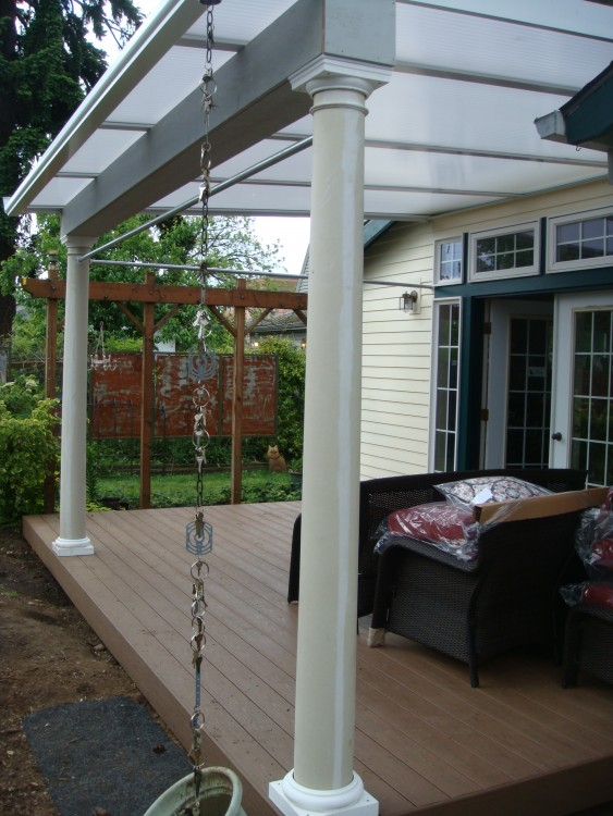 Patio Cover With Curtains Deck Masters Llc