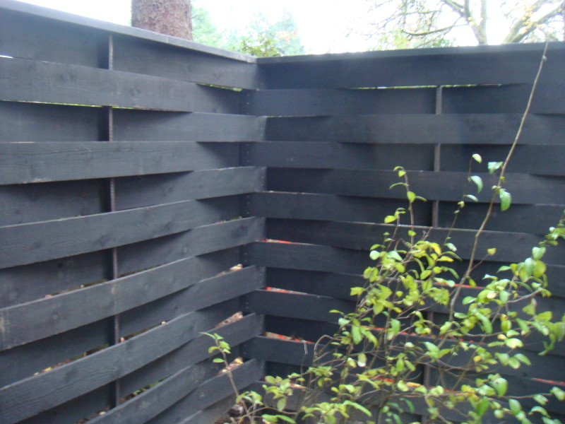 Woven horizontal cedar fence