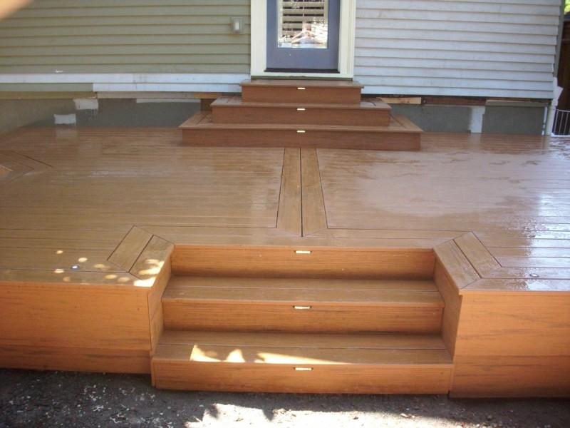 Timbertech Pacific Teak Deck With Lights Deck Masters Llc