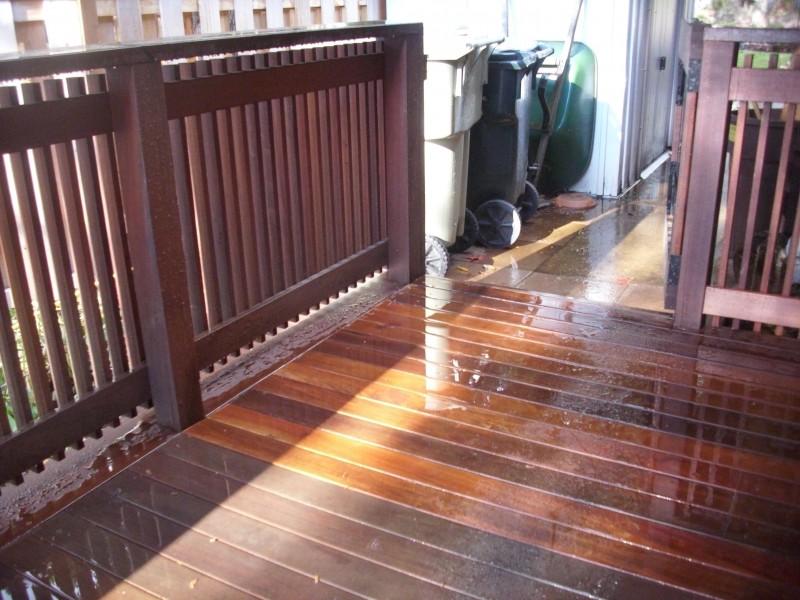 Fire damaged Ipe deck restoration