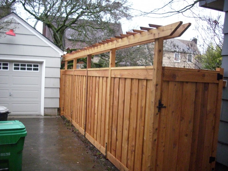 True privacy fence with pergola - Custom Cedar Fence And Pergola Deck Masters, LLC