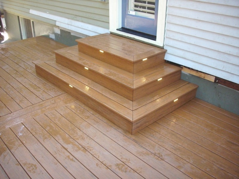 Timbertech Pacific Teak Deck With Lights Deck Masters Llc